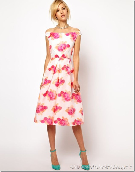 ASOS - Prom dress fluo in jacquard