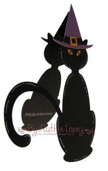 Cat svg - Platypus Creek Digitals - Halloween Card 2