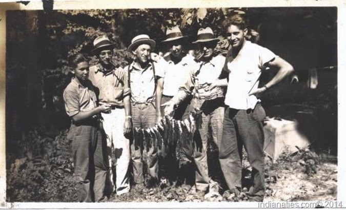 Summer fishing day in about 1935