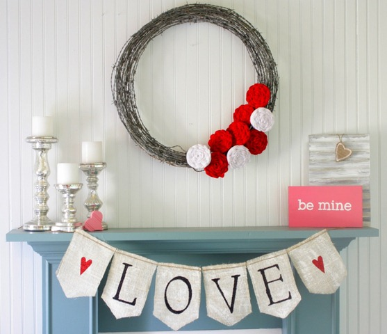 Valentine S Day Inspired Mantel An Easy Mantel Makeover