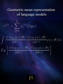 Geometric mean representation of language models Cover
