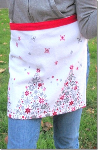 Christmas tea apron