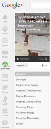 google _communities_organize_genealogy
