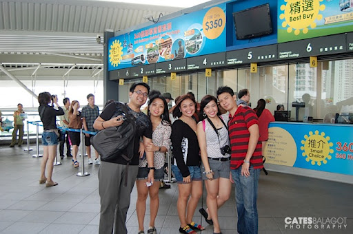 Ready to get on the 360 360 Ngong Ping cable car.