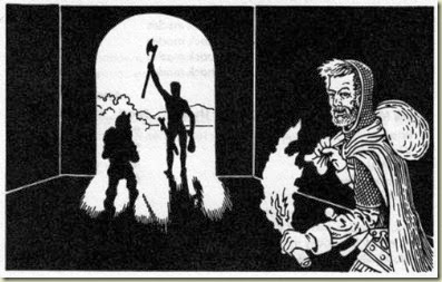 Self-portrait of Dave A. Trampier as a successful adventurer, from 1st edition AD&D PHB
