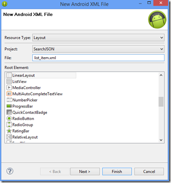 kerul net: Search Operation on Android online Database JSON
