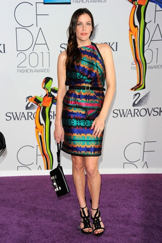 Liv Tyler attends the 2011 CFDA Fashion Awards