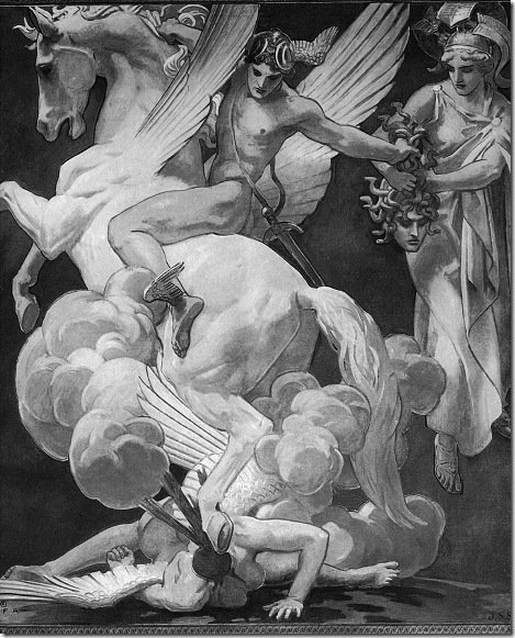 Sargent-Perseus-on-Pegasus-Slaying-Medusa