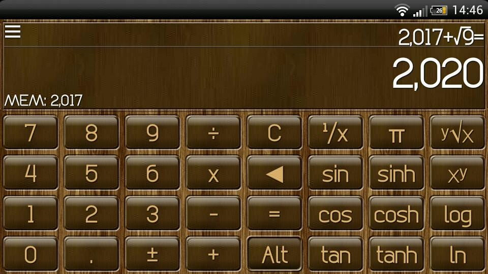 SCalc Wood Theme- screenshot