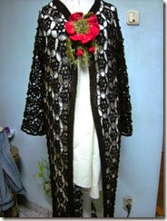 crochet long black vest 1