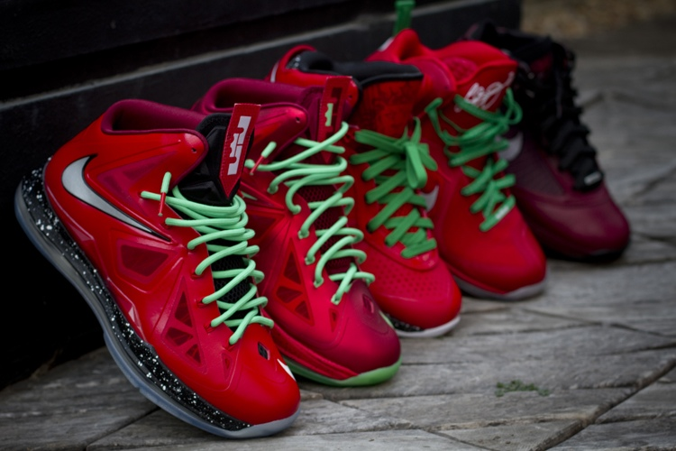 promo code 64dad d8bd3 Nike LeBron X iD Inspired by Christmas 88217s Build by gentry187 ...
