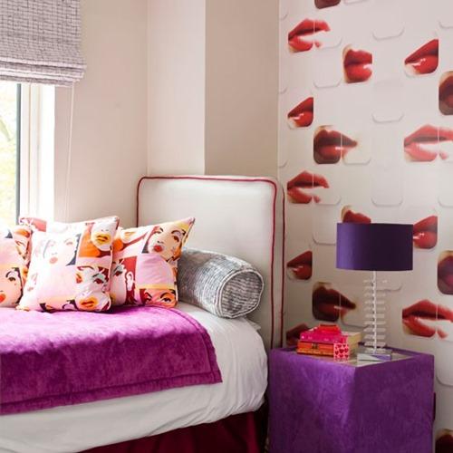 Pop-art-inpsired-bedroom-ideal-home