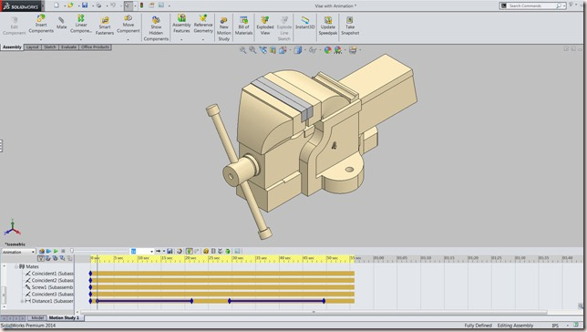 Vise with Animation