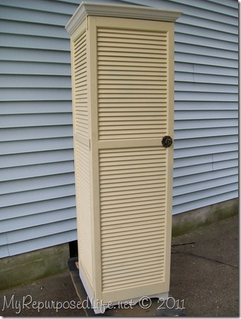 repurposed shutter cupboard