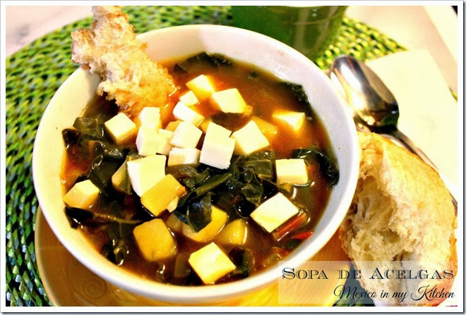Swiss Chard and Potato Soup | Sopa de Acelgas con Papas