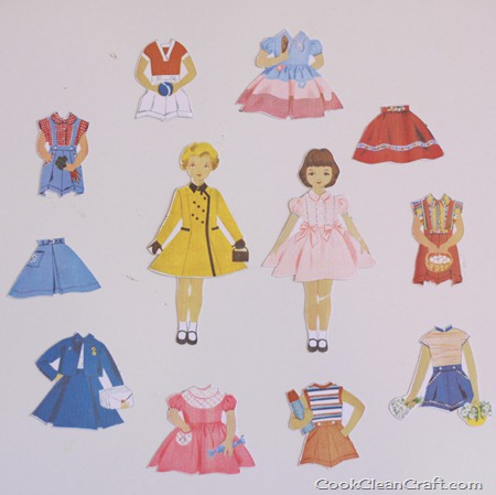 Magnetic Paper Dolls Tutorial at Cook Clean Craft