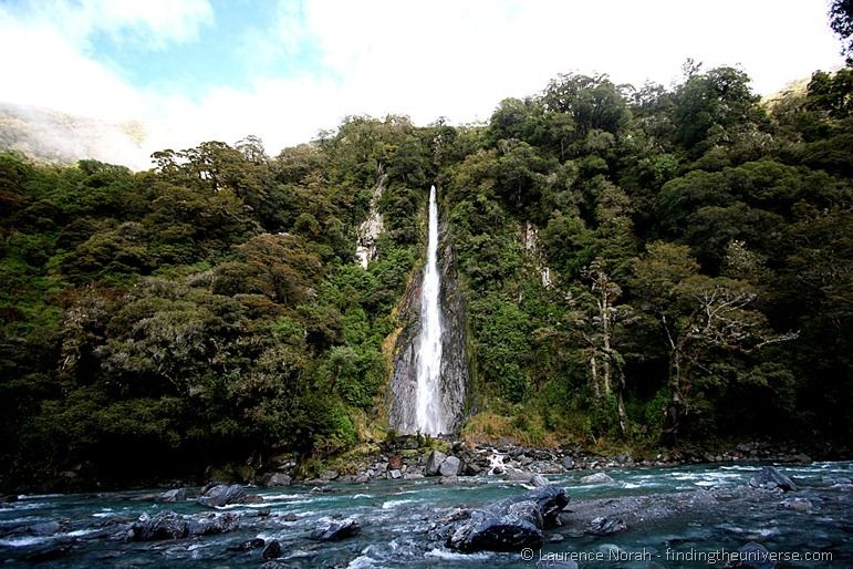 Thunder Creek  Falls Waterfall New Zealand
