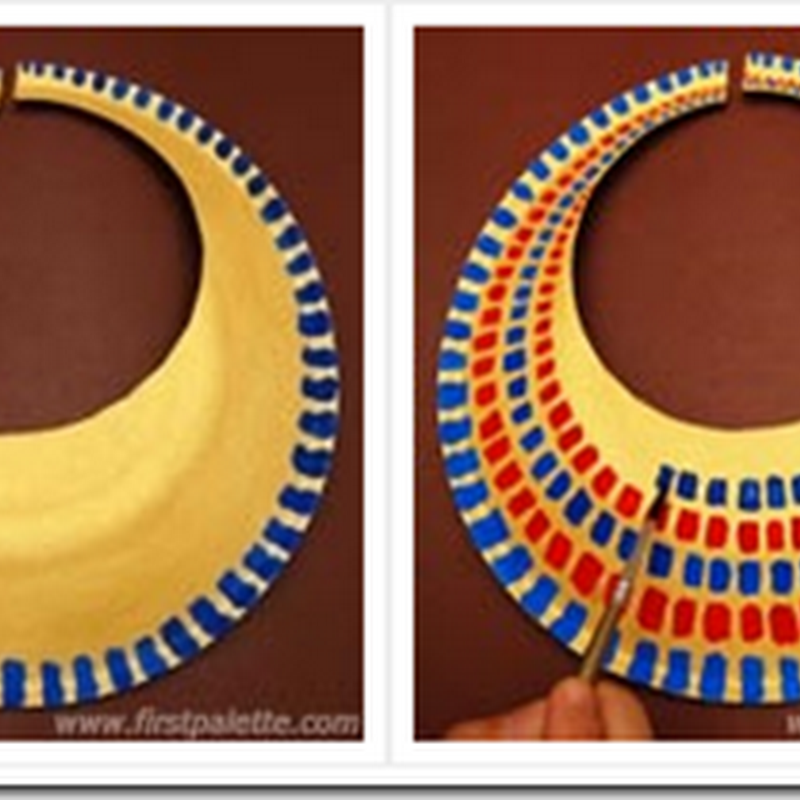 Cómo hacer un collar egipcio reciclados