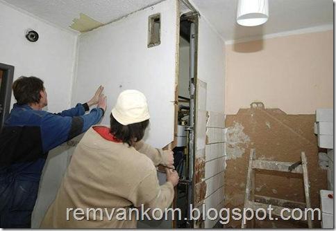 комплексный ремонт ванной комнаты 15