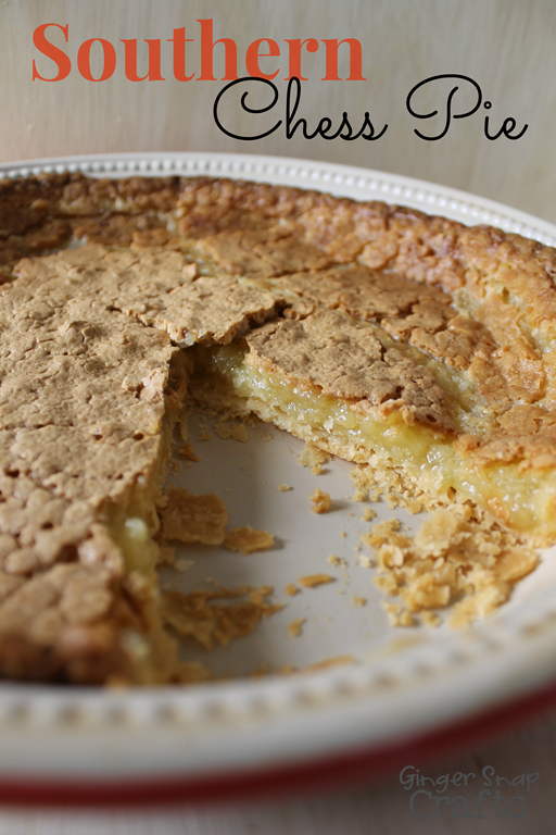 Southern Chess Pie ~ recipe from GingerSnapCrafts.com #gingersnapcrafts #recipe #ad