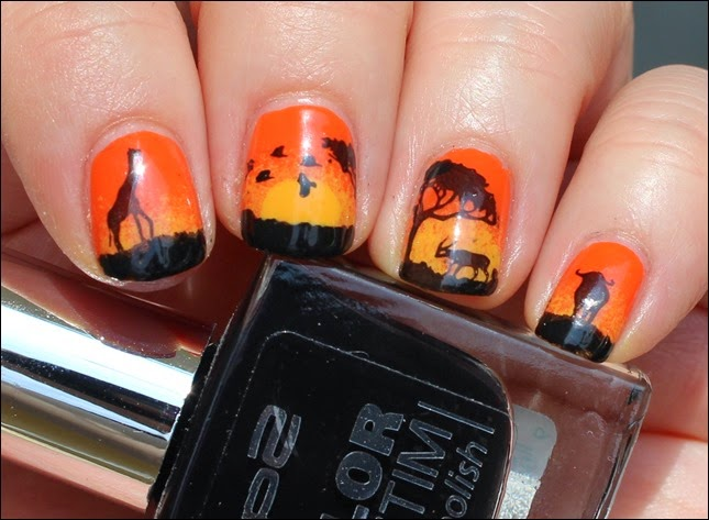 Nail Art Nageldesign Africa Safari 2
