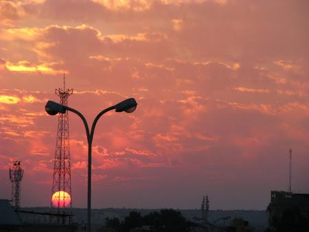 Apus de soare in India