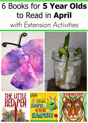 April Book Picks for 5 Year Olds and Extension Activities