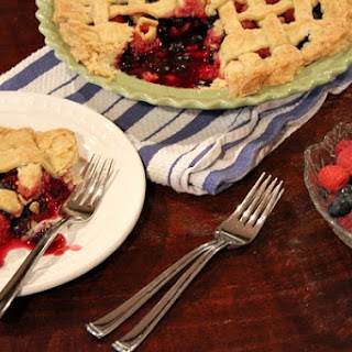 Raspberry- Blueberry Pie
