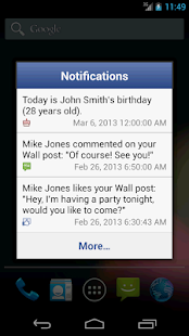 Notifier Widget for Facebook - screenshot thumbnail