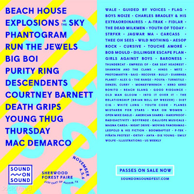 coming to Austin with all these sweet peeps for Sound on Sound Fest in november