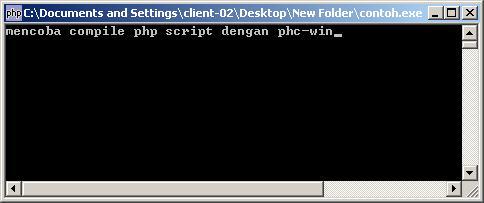 Compile Php Script Menjadi File Exe Kencur Net