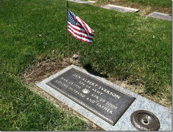 Jan Albert Iverson Grave Marker May 26, 2012
