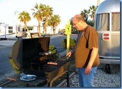 7003 Texas, South Padre Island - KOA Kampground - Bill BBQing