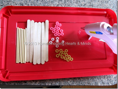materials for making your own abacus @Homeschooling Hearts & Minds
