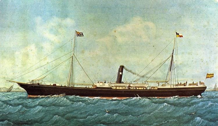 Vapor DIANA. Acuarela de J. Pineda. Museu Maritim de Barcelona. Enciclopedia El Mar. Vol X.jpg