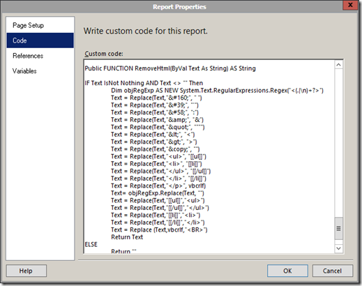 Removing Spaces When an SSRS Report is Exported to PDF - EPM