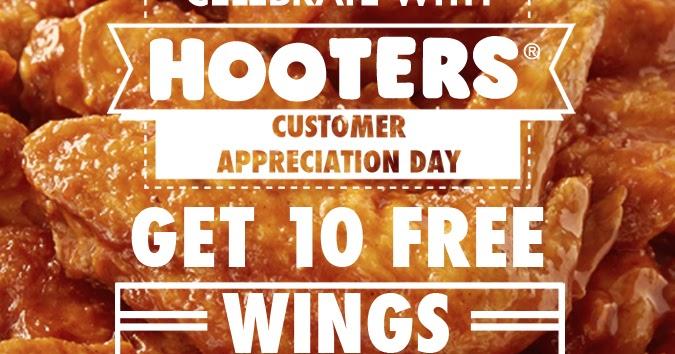 HOOTERS BUY 10 GET 10 FREE