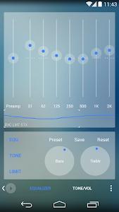 Poweramp skin Now Transparent v1.0.2