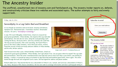 订阅the Ancestry Insider, visit http://www.AncestryInsider.org