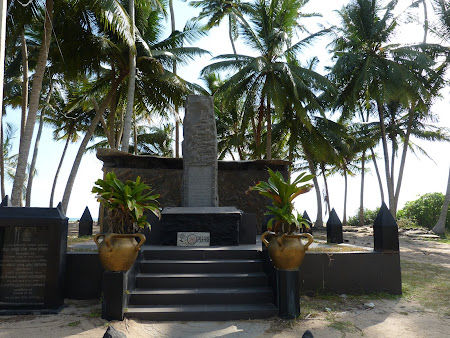 Monument victime tsunami in Sri Lanka