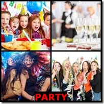 PARTY- 4 Pics 1 Word Answers 3 Letters