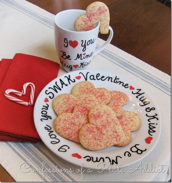 CONFESSIONS OF A PLATE ADDICT DIY Valentine Sharpie Plate and Mug