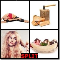 SPLIT- 4 Pics 1 Word Answers 3 Letters