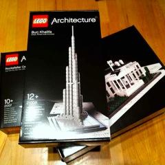 LEGO Architectureの新作3点が届いた