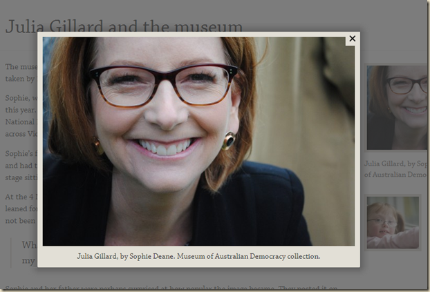 Julia Gillard and the museum · Museum of Australian Democracy at Old Parliament House