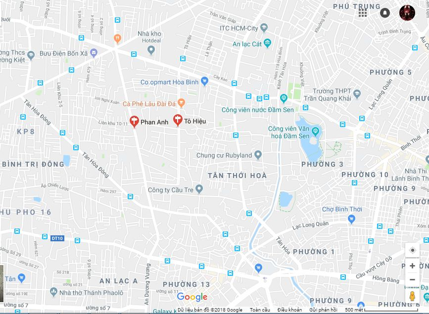 Bán nhà phố và đất nền mặt tiền đường Phan Anh Quận Tân Phú 06