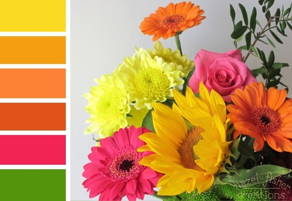 2015 April 10 Colour Inspiration birthday flowers photography bright citrus palette hazelfishercreations