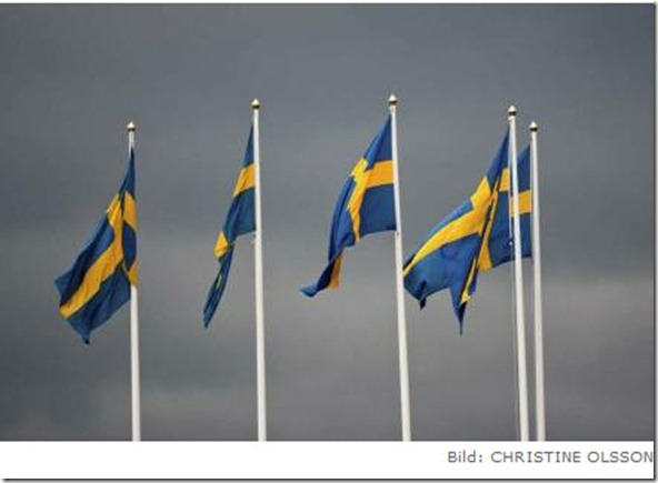 swedish flags