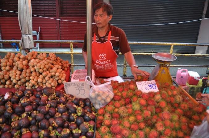 Imagini Thailanda: Fructe in piata de zi din Chiang Rai, Thailanda