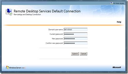 The Microsoft Platform: Password change option also